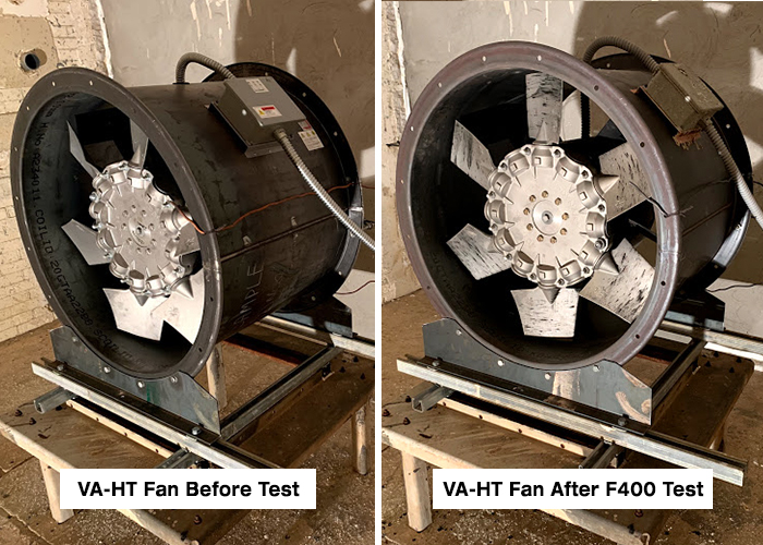 DYNAIR VA-HT-VA-HT Fan Before & After Test
